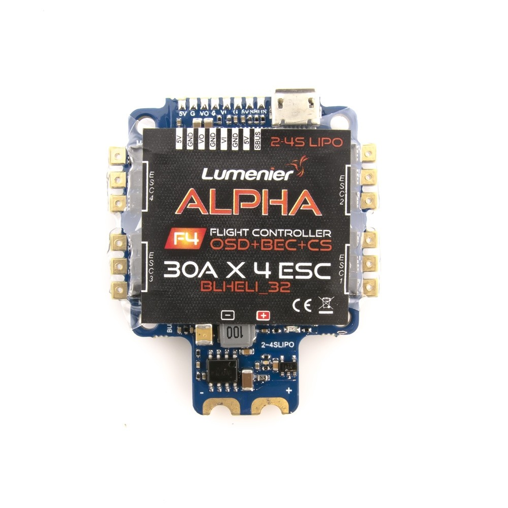 Lumenier Alpha Aio Flight Controller F4 Fc With Osd And 30a Hobbyking Quadcopter Wiring Diagram Update 2017 09 27 Yes Additional Uart Pads Txrx Are Under The Heatshrink Also I Think There Buzzer